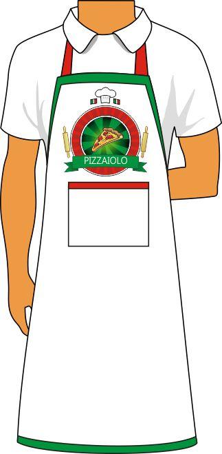 Kit Cozinha Avental e Bandana de Microfibra Pizzaiolo