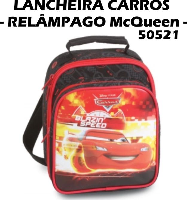 LANCHEIRA CARROS - RELÂMPAGO MCQUEEN 50521 - Super Desconto!!