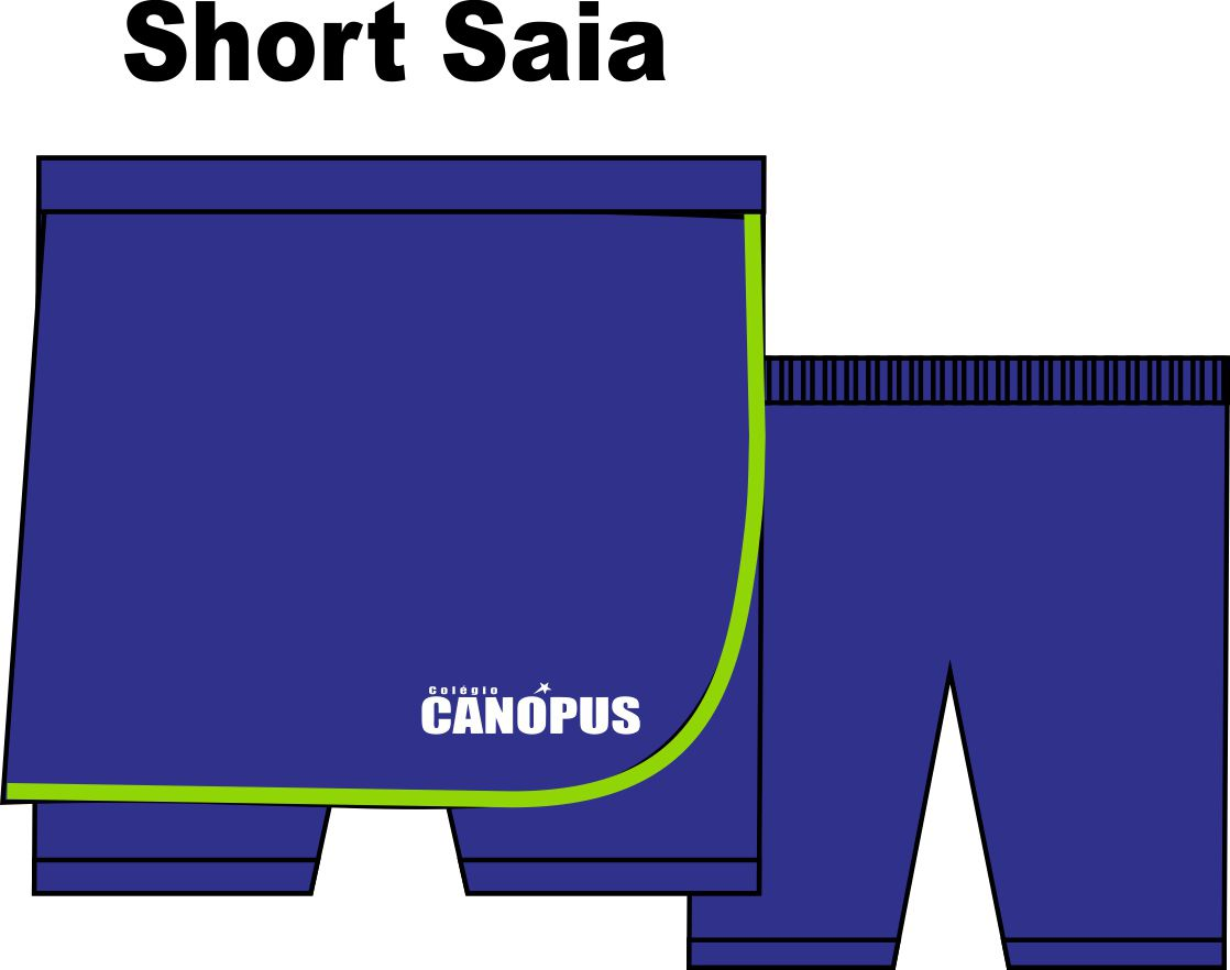 Short Saia Helanca Poliéster Canópus