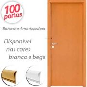 Borracha de Vedação para Porta Modelo Encaixe 6062 Rolo para 100 Portas