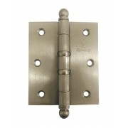 Dobradiça para Porta Reforçada 3.1/2 x 3 Latão Niquel Acetinado