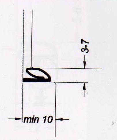 Borracha de Vedação Autoadesiva para Porta - Modelo 5924 - BEGE