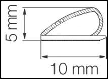 Borracha de Vedação para Porta - Modelo Adesivo 5792