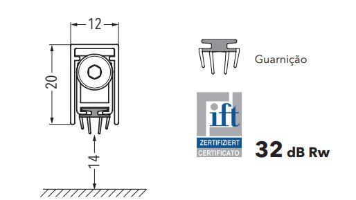 Kit de Vedação para Porta Borracha Encaixe 6062 Branca e Veda Porta de Embutir Automático
