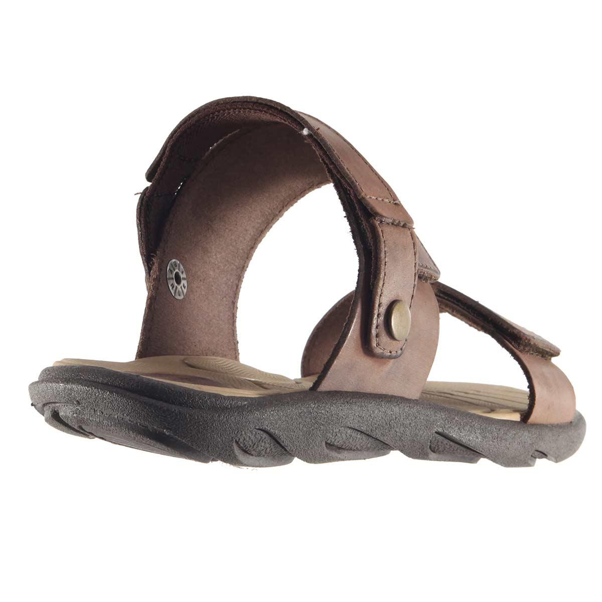 Sandália Itapuã Street Chinelo Masculina Couro Legítimo Velcrom 15108
