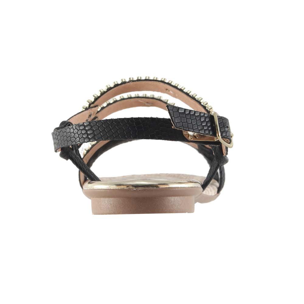 Sandália Mississipi Rasteira Tiras Metal Confortável X5862