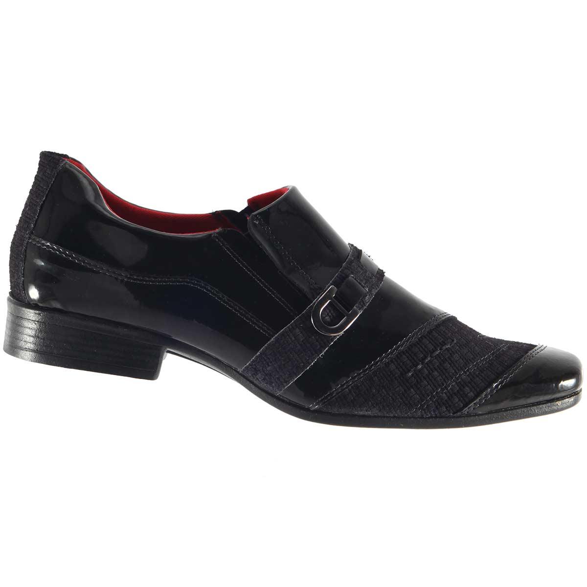 Sapato D'mazons Social Masculino Verniz AMI-502