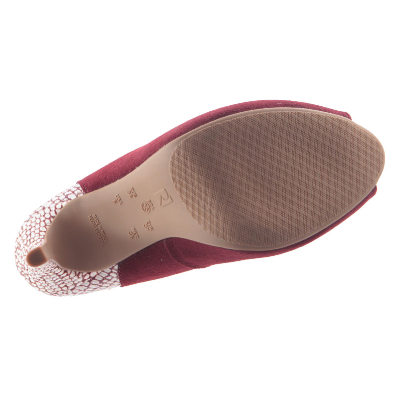 Sapato Peep Toe Ramarim Meia Pata Malbec 1647103