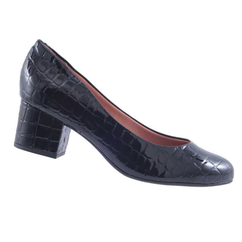 Sapato Scarpin Feminino Salto Baixo Vizzano Verniz Croco 1223100