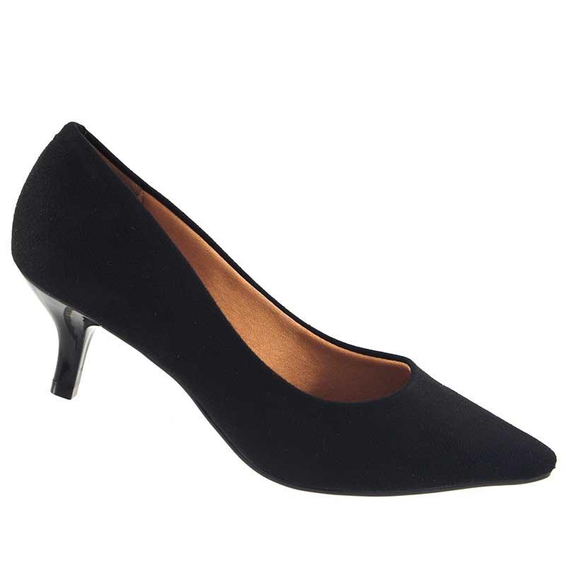 Sapato Scarpin Vizzano Camurça Flex Salto Baixo 1122600