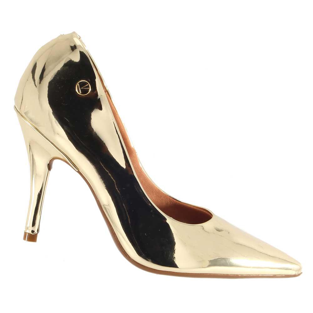 Sapato Vizzano Scarpin Metal Espelhado 1184101