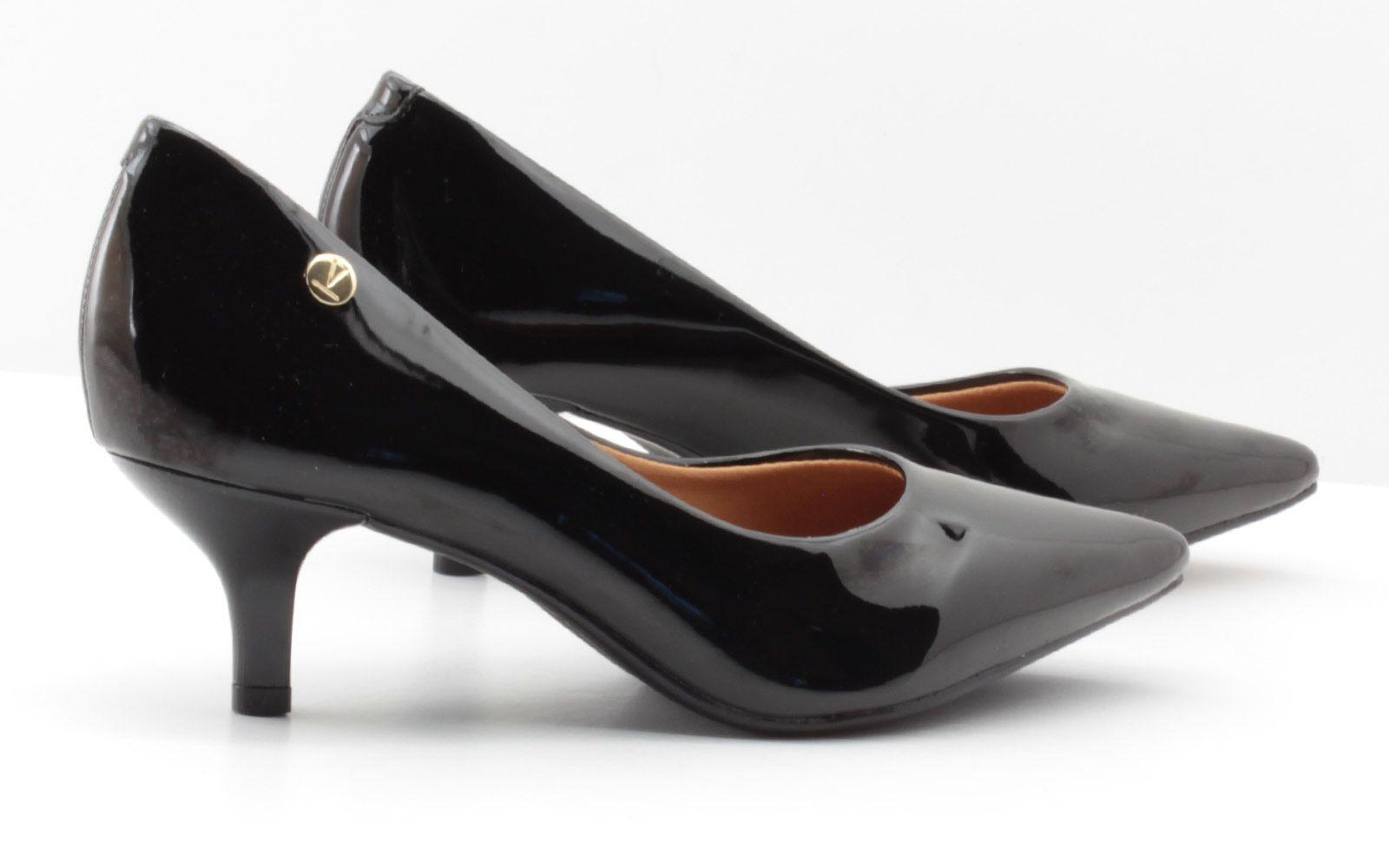 Scarpin Vizzano Sapato Verniz Salto Baixo 1122628