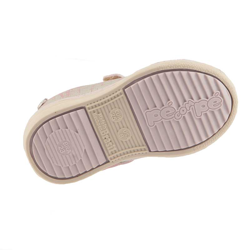 Tênis Pé Com Pé Casual Guty Infantil Velcro 47516