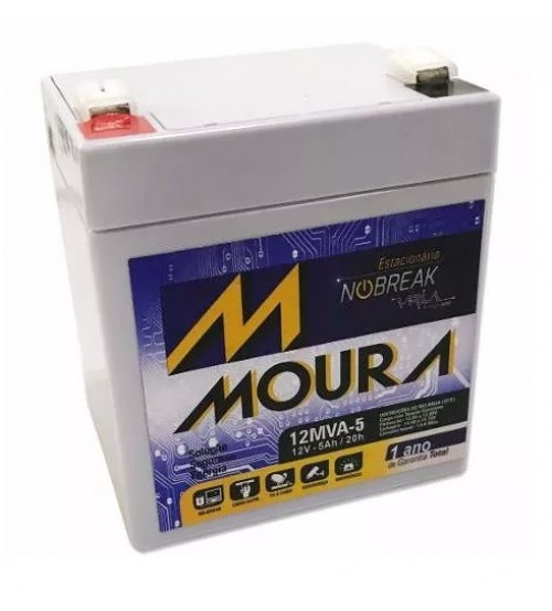 Bateria 12v 5ah selada Moura para Nobreaks
