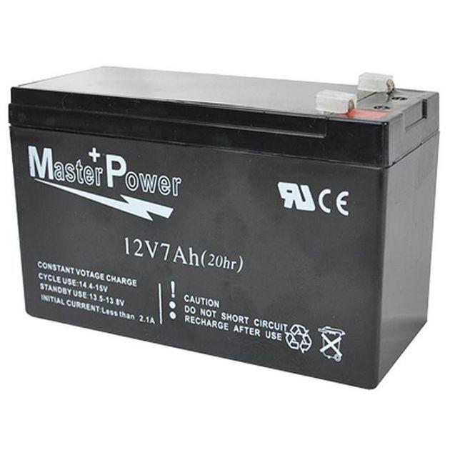 Bateria Selada 12v 7ah MasterPower Alarme / cerca Elétrica