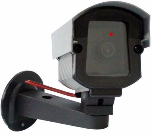 Câmera de segurança falsa com led bivolt - confiseg
