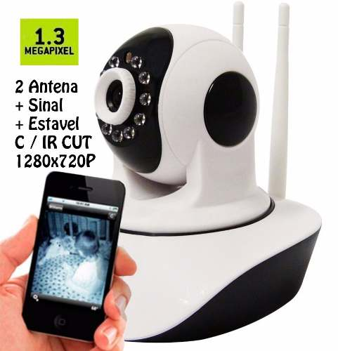 Câmera Ip Ptz 1.3mp 720p Hd Wireless Wifi Audio Sd P2p