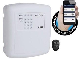 Central De Alarme Gsm Max 4 Cell Ecp Com Discadora Celular
