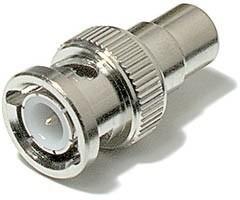 Conector adaptador BNC macho p/ RCA fêmea