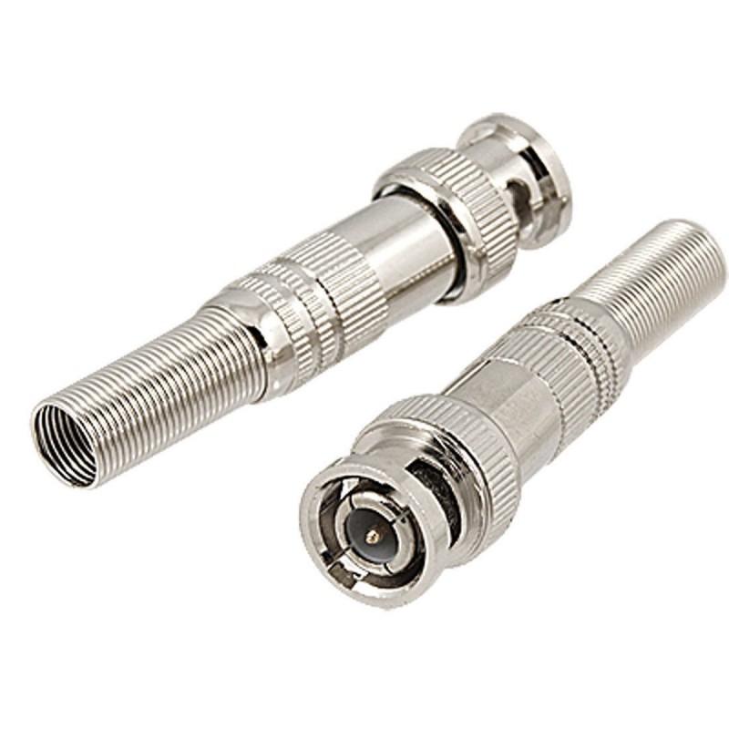 Conector bnc mola parafuso 4mm ideal para Cftv