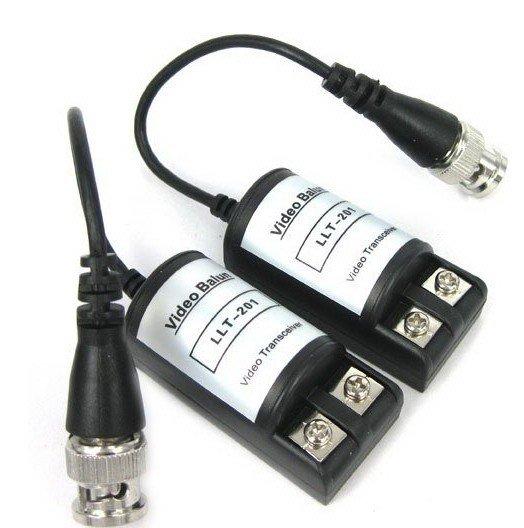 Par de Conversor trançado vídeo Balun passivo alcance de até 600 metros  - Esferatronic Comercio e Distribuição