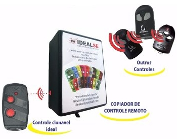 Copiador P/ Controle Remoto Ideal 433Mhz Regravável  - Esferatronic Comercio e Distribuição