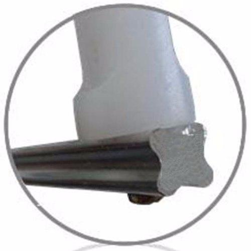 Haste de ferro galvanizado para cerca elétrica com 4 isoladores