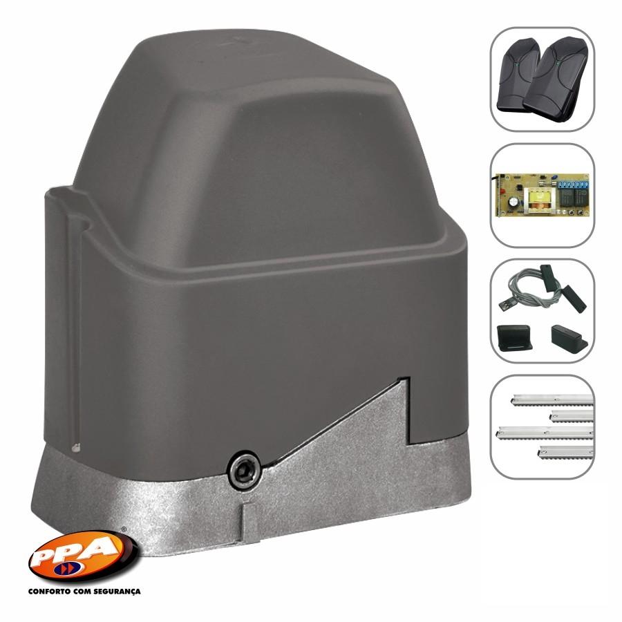 Kit motor portão eletrônico DZ Home custom analógico 1/4hp PPA