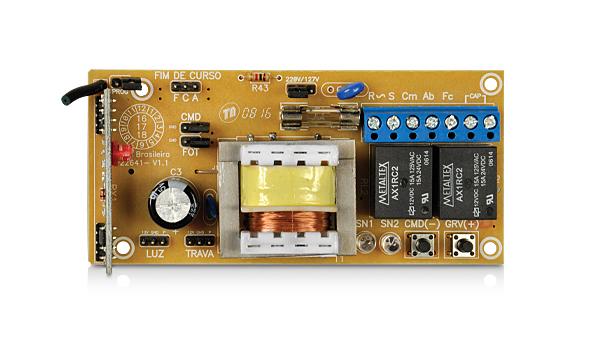 Kit motor portão eletrônico DZ Rio turbo custom analógico (pop) 1/4hp PPA
