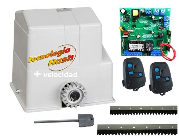 Kit motor portão eletrônico deslizante Super Flash semi-industrial 1/2 hp Peccinin