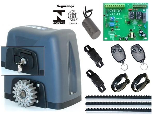 Kit motor portão eletrônico nano turbo 1/4 hp Rossi (rápido)