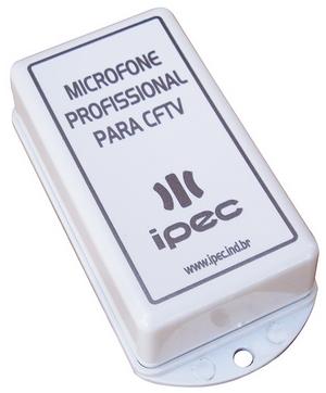 Microfone profissional para CFTV - marca Ipec  - Esferatronic Comercio e Distribuição