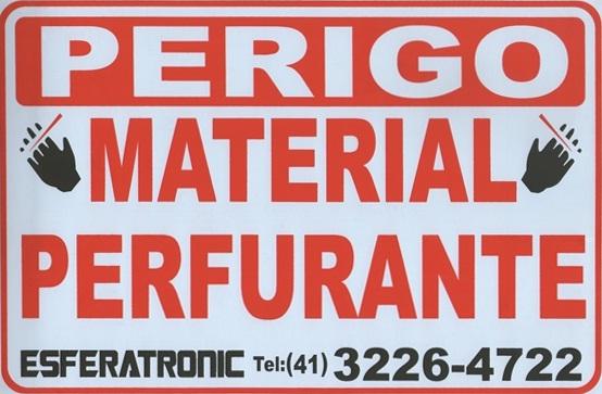 Placa de sinalização cerca de ouriço/concertina ''Material perfurante''