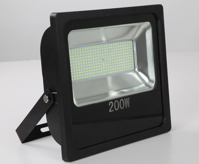 Refletor Led 200w Holofote Bivolt A Prova D'água Branco Frio