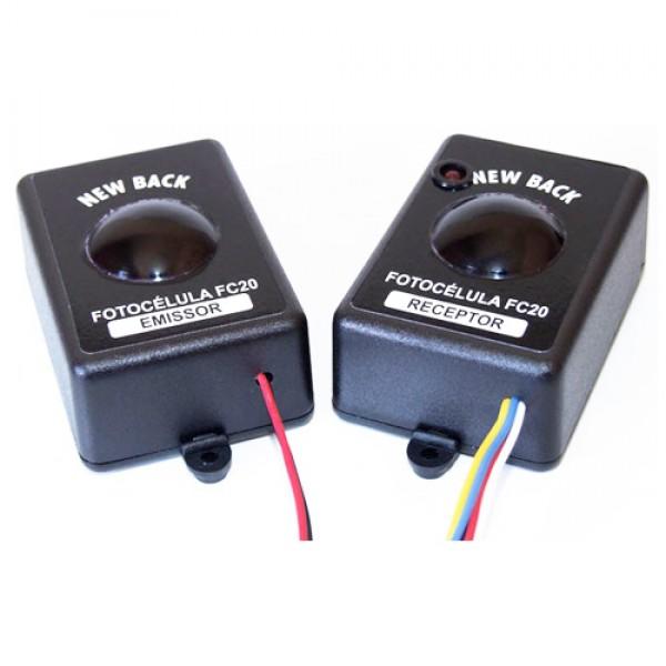 Sensor fotocélula FC 20 Emissor e receptor  - Esferatronic Comercio e Distribuição