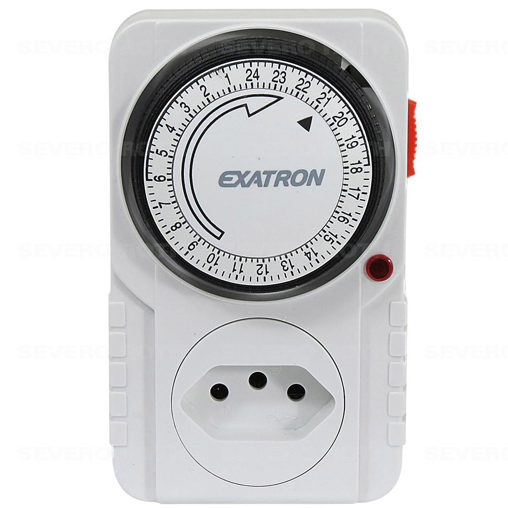 Timer temporizador analógico com até 96 programações p/ ligar e desl. aparelhos - Exatron