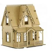 Casa De Bonecas em Mdf Para Polly, Barbie Pocket  e Similares Modelo C1