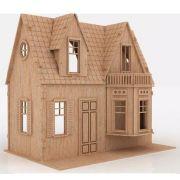 Casa De Bonecas em Mdf Para Polly Barbie Pocket e Similares Modelo C4