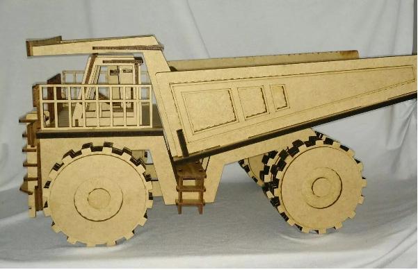 Caminhão De Pedra Em Mdf 3mm Para Brincar, Decorar ou Colecionar