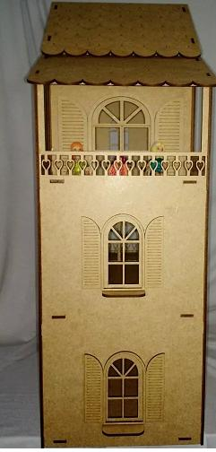 Casa  Boneca em Mdf  Polly, Barbie Pocket e Similres Modelo C7