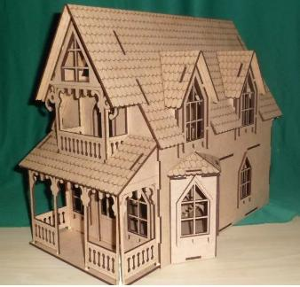 Casa Bonecas em Mdf  para Polly, Barbie Pocket  e Similares Modelo C11