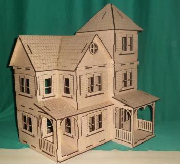 Casa Casinha em Mdf para Polly, Barbie Pocket e Similares Modelo C14