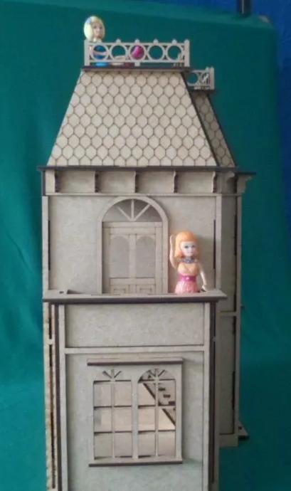 Casa De Bonecas em Mdf Para Polly, Barbie Pocket e Similares Modelo C12