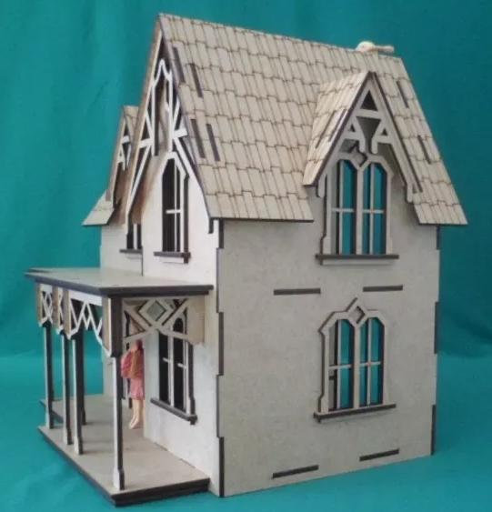 Casa De Bonecas em Mdf Para Polly, Barbie Pocket e Similares Modelo C15