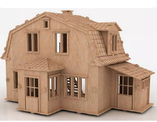 Casa De Bonecas em Mdf Para Polly, Barbie Pocket  e Similares Modelo C5