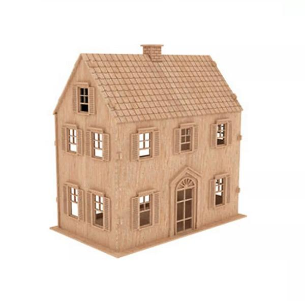 Casa De Bonecas em Mdf Para Polly, Barbie Pocket e Similares Modelo C3