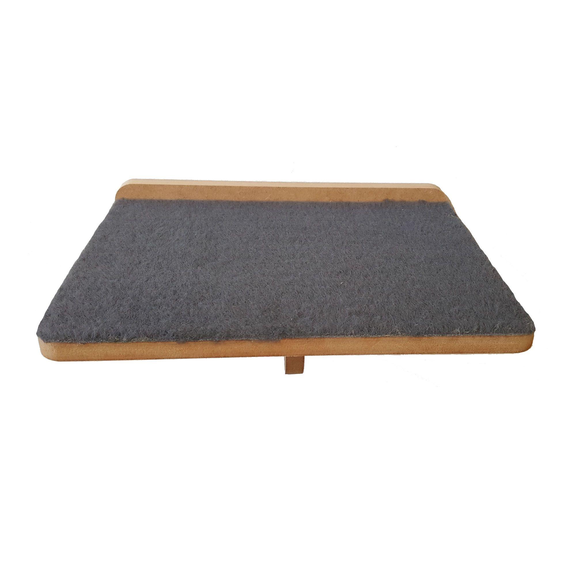 Kit com 2 Prateleiras Arranhador em Carpete -  Gato Pet Mdf 15mm