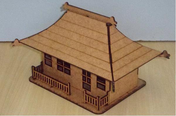 Mini Casa Chinesa Templo Chinês Em Mdf
