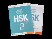 HSK  nível 2 ,  livro de texto com CD e livro de exercícios com CD