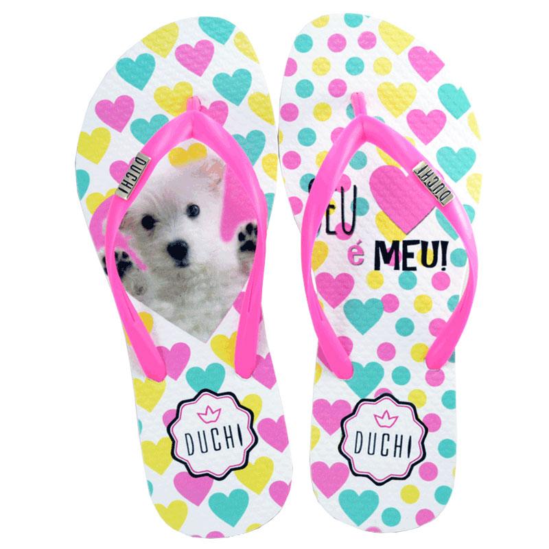 Kit com 6 pares modelo Sandália Duchi Dog Heart